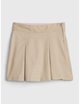 Kids Uniform Twill Skort With Gap Shield by Gap