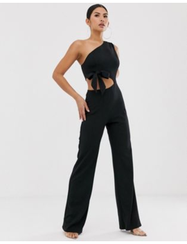 Asos Design One Shoulder Cut Out Jumpsuit by Asos Design