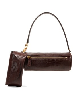 Suzy Lizard Effect Leather Tote by Staud