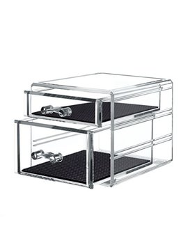 Twing Acrylic 2 Jewelry Box Organizer Display Storage Case, Crystal And Unbroken Jewelry Calener Drawer by Twing