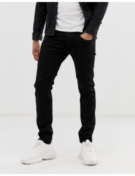 Replay   Anbass   Stretch Slim Fit Jeans In Zwart by Replay's