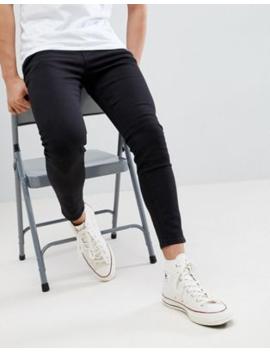 Pull&Amp;Amp;Bear   Smaltoelopende Jeans In Zwart by Pull&Amp;Bear