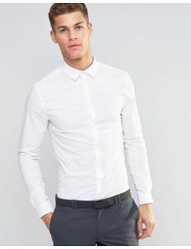 Asos Design   Skinny Overhemd In Wit by Asos Design