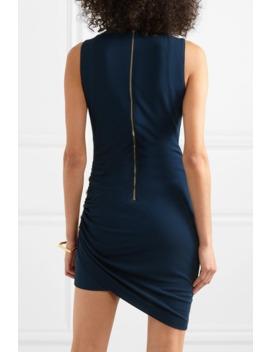 Button Embellished Jersey Mini Dress by Balmain
