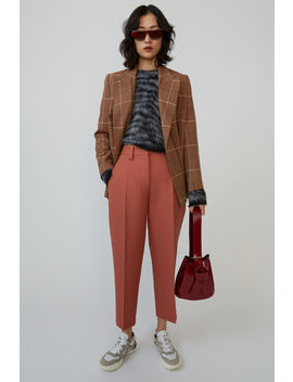 Cropped Trousers Coral Red by Acne Studios