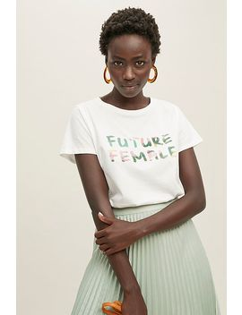 Future Female Logo Organic Cotton Tee by Future Female