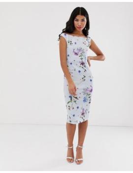 True Violet Floral Off The Shoulder Midi Dress by True Violet