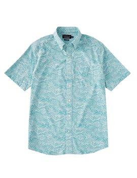 Intercoastal Reyn Spooner Wave Print Short Sleeve Woven Shirt by Southern Tide