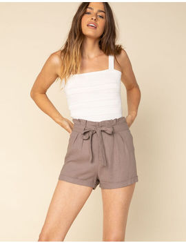 West Of Melrose High Noon Womens Paperbag Waist Shorts by West Of Melrose