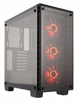 Corsair Crystal 460 X Rgb Compact Mid Tower Case, 3 Rgb Fans, Tempered Glass   Black by Corsair