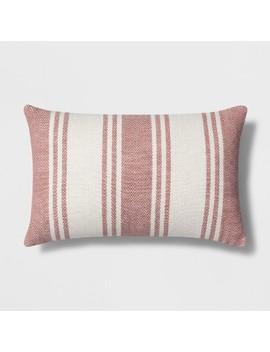 Woven Stripe Lumbar Throw Pillow   Threshold by Threshold