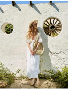 vestido-comprido-bordado-suíço by stradivarius