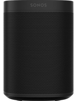 One (Gen 2) Smart Speaker With Voice Control Built In   Black by Sonos
