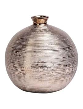 """Bowl Shaped Spun Vase Cognac 9""""   Drew De Rose by Shaped Spun Vase Cognac 9"""""""