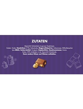 Milka Whole Haselnuts Chocolate Bar Candy Original German Chocolate 270g/9.52oz by Milka