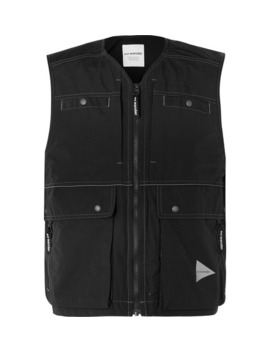 Cropped Nylon Gilet by And Wander