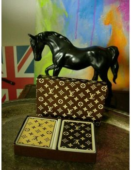 Rare Vintage Louis Vuitton Poker Bridge Boxed Playing Cards Library Barware by Ebay Seller