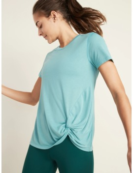 Relaxed Side Tie Performance Tee For Women by Old Navy