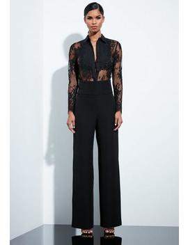 peace-+-love-black-lace-trim-shirt by missguided