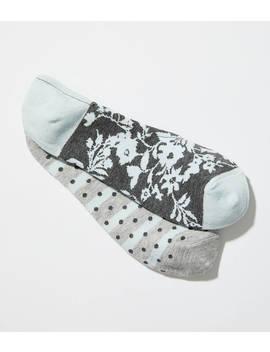 Flower &Amp; Dot No Show Sock Set by Loft