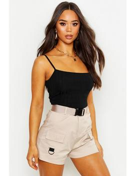 Recycled Chunky Rib Crop Top by Boohoo