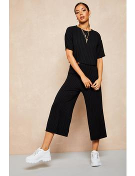 Recycled Rib Boxy Tee by Boohoo