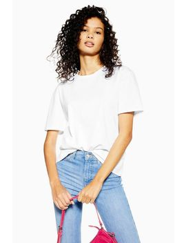 Tall White Nibble T Shirt by Topshop