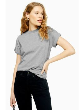 Short Sleeve Panel T Shirt by Topshop