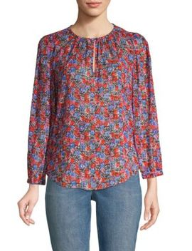 Cosmic Flower Silk Cotton Blouse by Rebecca Taylor