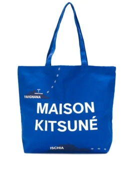 All Over Mappa Tote by Maison Kitsuné