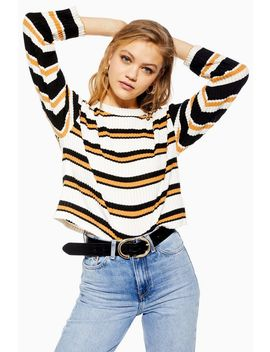 Petite Stripe And Cut And Sew Sweatshirt by Topshop