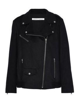 Wool Blend Biker Jacket by Rebecca Minkoff