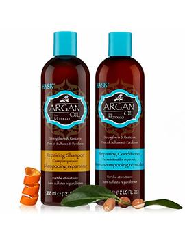 Hask Argan Oil Shampoo & Conditioner Set 12 Oz Each by Hask