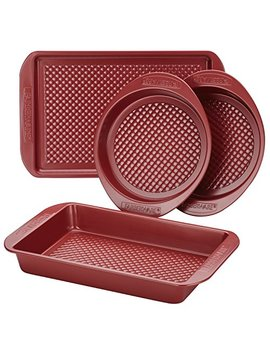 Farberware Colorvive Nonstick Bakeware Set, 4 Piece, Red by Farberware
