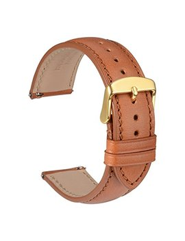 Wocci Full Grain Leather Watch Band   Quick Release Strap   Replacement Bracelet (18mm 20mm Or 22mm) by Wocci