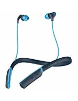 Skullcandy Method Bluetooth Sport Earbuds With Microphone, Sweat Resistant Bt W Ireless, Perfect For Working Out, Secure Around The Neck Collar, 9 Hour Long Rechargeable Battery, Navy Blue by Skullcandy
