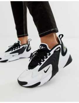 Nike White And Black Zoom 2k Sneakers by Nike