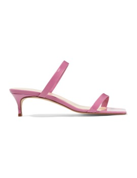 Thalia Patent Leather Mules by By Far