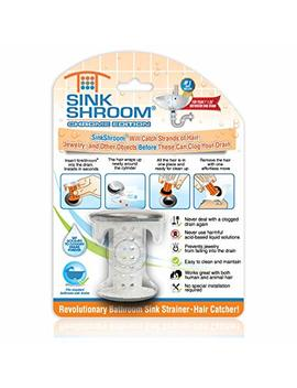 Sink Shroom Chrome Edition Revolutionary Bathroom Sink Drain Protector Hair Catcher, Strainer, Snare by Sink Shroom