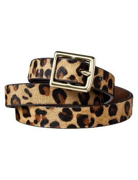 Women's Leopard Print Calf Hair Belt   Brown &Amp; Tan   A New Day by Brown & Tan