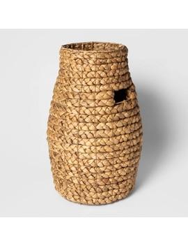 "Decorative Braided Tall Basket Natural 20""X13.3""   Threshold by Threshold"