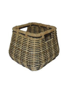 """Small Rounded Square Basket Natural With Accents 11.25""""X14.25""""   Threshold by Threshold"""