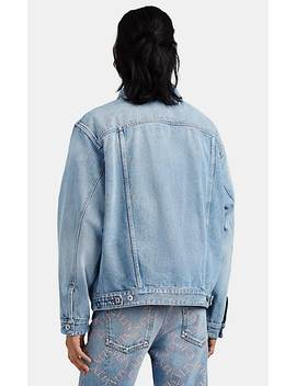 V Logo Denim Trucker Jacket by Valentino