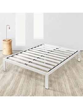 """Mellow Full Frame Rocky Base C 14"""" Platform Bed, Size, White by Mellow"""