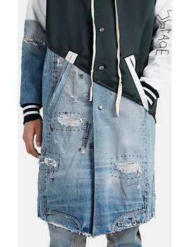 Patchwork Long Varsity Jacket by Greg Lauren
