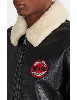 """Chateau Marmont"" Sherpa Lined Leather Aviator Jacket by Gucci"