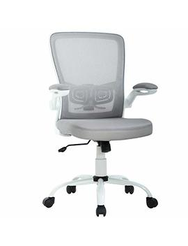 Office Chair Ergonomic Cheap Desk Chair Mesh Computer Chair Back Support Mid Back Executive Chair Task Rolling Swivel Chair For Back Pain, Grey by Best Office