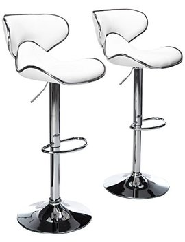 roundhill-furniture-masaccio-cushioned-white-leatherette-upholstery-airlift-swivel-barstool-(set-of-2) by roundhill-furniture
