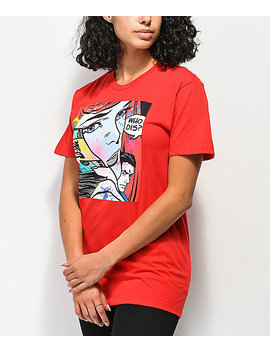 Dgk Who Dis Red T Shirt by Dgk