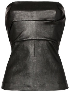 Leather Corset Bustier by Rick Owens